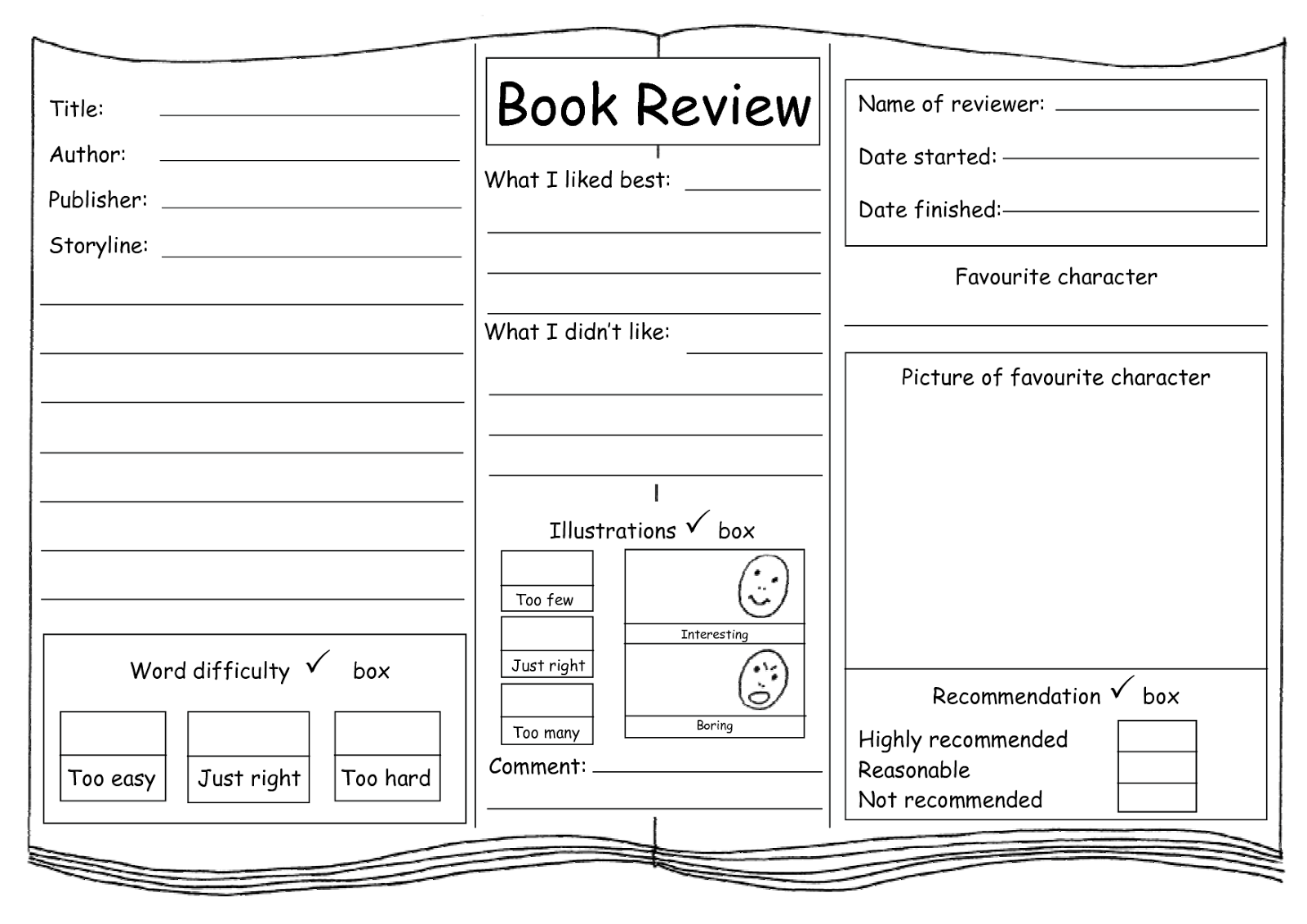 write a book review ks2 english