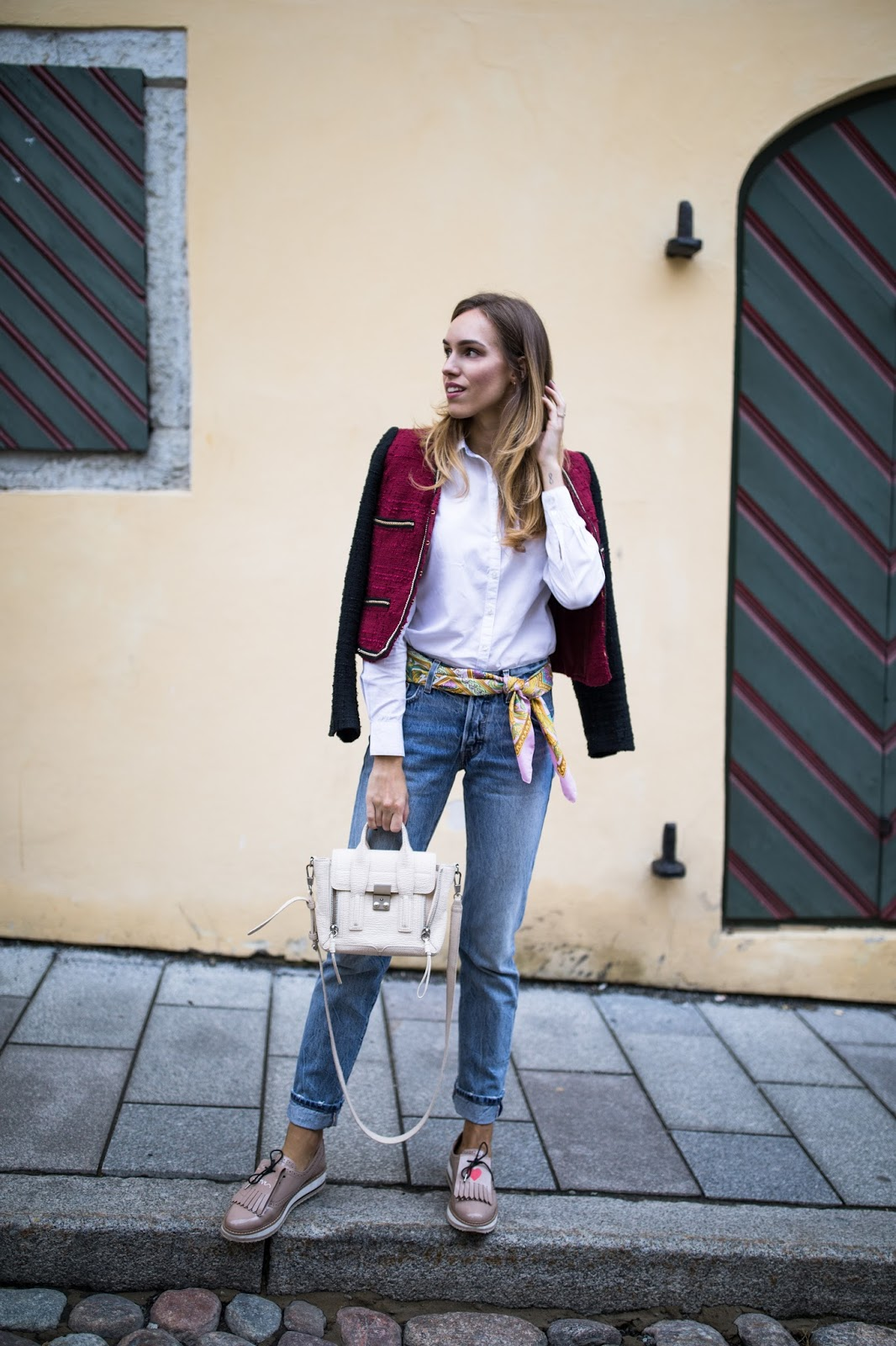 scarf belt trend outfit fashion