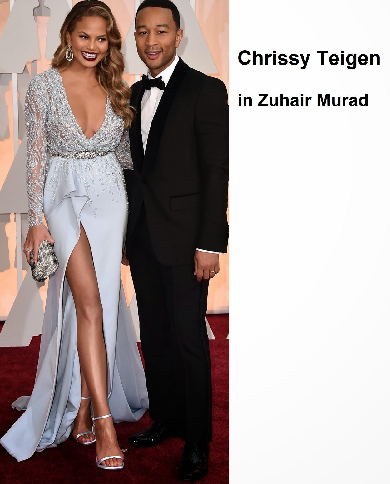 Chrissy%2BTeigen%2Bin%2BZuhair%2BMurad - Look Óscares 2015