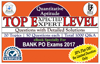 TOP 1000 Expected/Expert Level Quantitative Aptitude Questions with Detailed Solution (Covered 20 Topics) eBook – Download in PDF