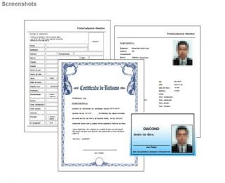 Dá pra imprimir até a carteirinha de membro, o certificado de batismo e o relatório de entradas e saídas de membros e congregados.