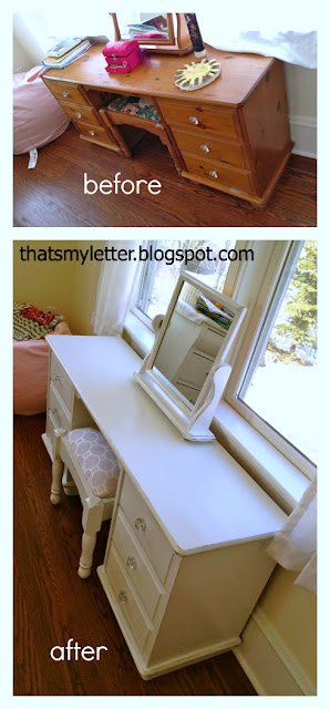 dressing table before and after