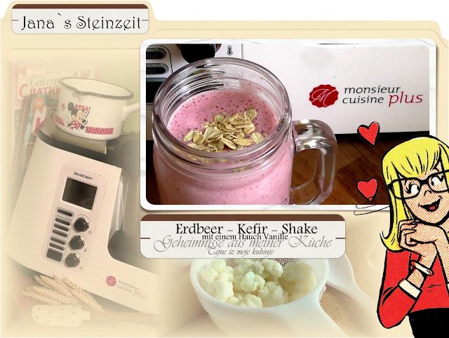 Janas steinzeit video erdbeer kefir shake kefir for Mr cuisine edition plus