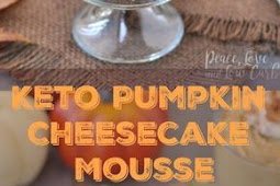 #TOPRECIPES low carb pumpkin cheesecake mousse