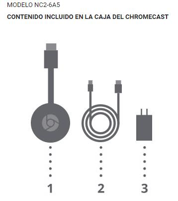 google chromecast 2 nueva versión nc2-6a5 modelo