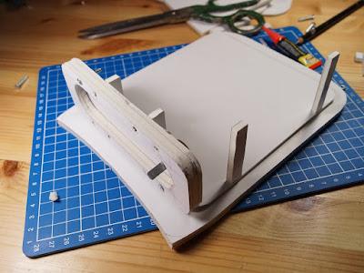 """Основание и передняя панель для макета корпуса усилителя """"Гамма"""""""