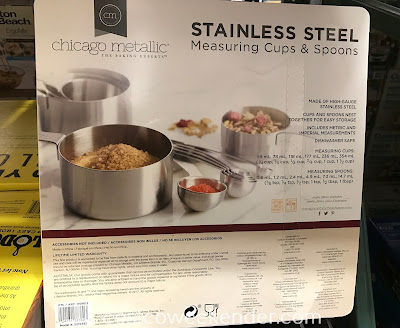Costco 1159613 - Chicago Metallic Measuring Cups and Spoons: making masterpieces in the kitchen requires precise measurements