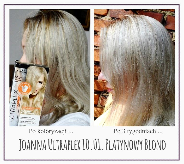 Farbowanie włosów Joanna Ultraplex Color Platynowy Blond domowa koloryzacja