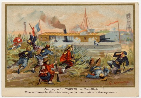 French ship in Tonkin