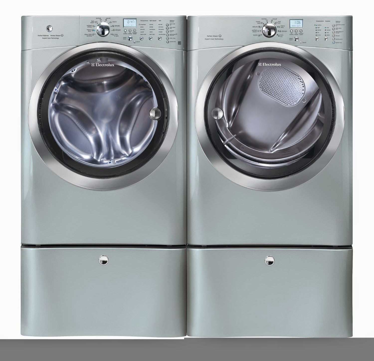 electrolux eifls20qsw. electrolux silver iq touch front load washer and steam gas dryer laundry sets eifls20qsw