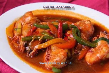 Resep udang semur pedas nasi box walini ciwidey