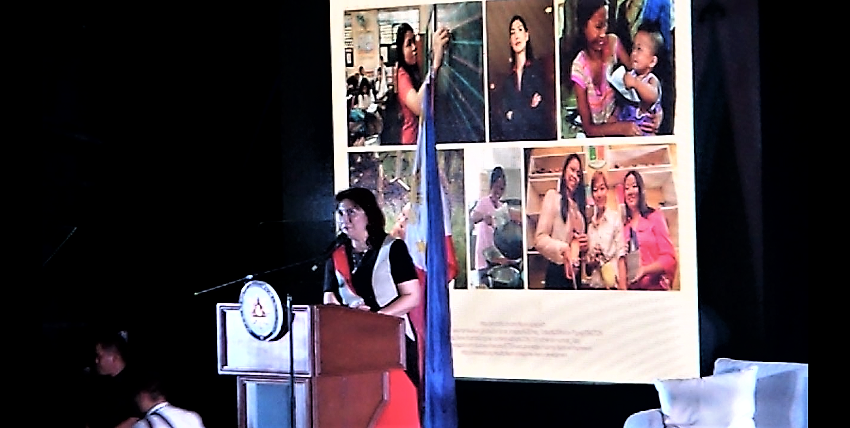 BDJ Women`s Summit 2017: Women Can. Women Will | Keynote Speaker | Ma. Leonor Robredo, Vice President of the Republic of the Philippines | Screenshot from Personal Recorded Video (www.TheGracefulMist.com) | Speech
