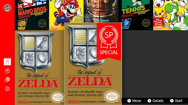 The Legend of Zelda SP Special Nintendo Switch Online NES games ribbon tag
