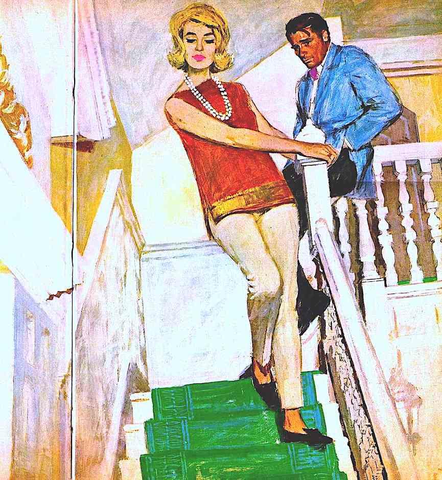an Andy Virgil magazine illustration of vertigo