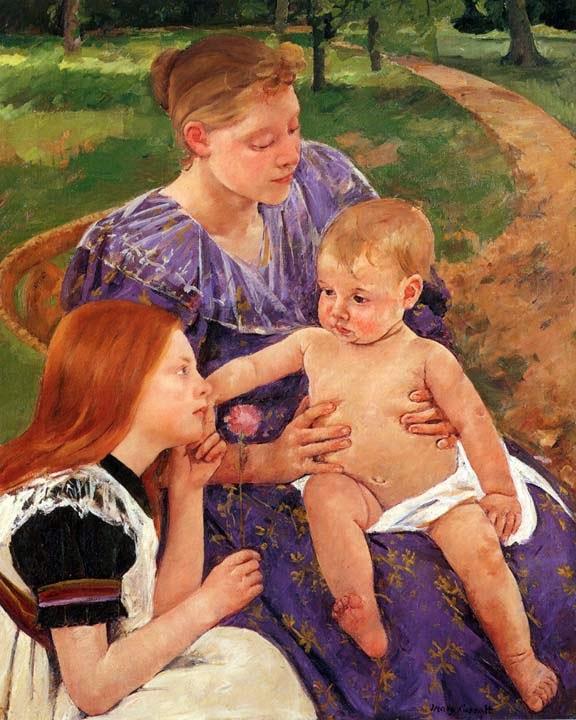A Família - Pinturas de Mary Cassatt | Mulheres na pintura