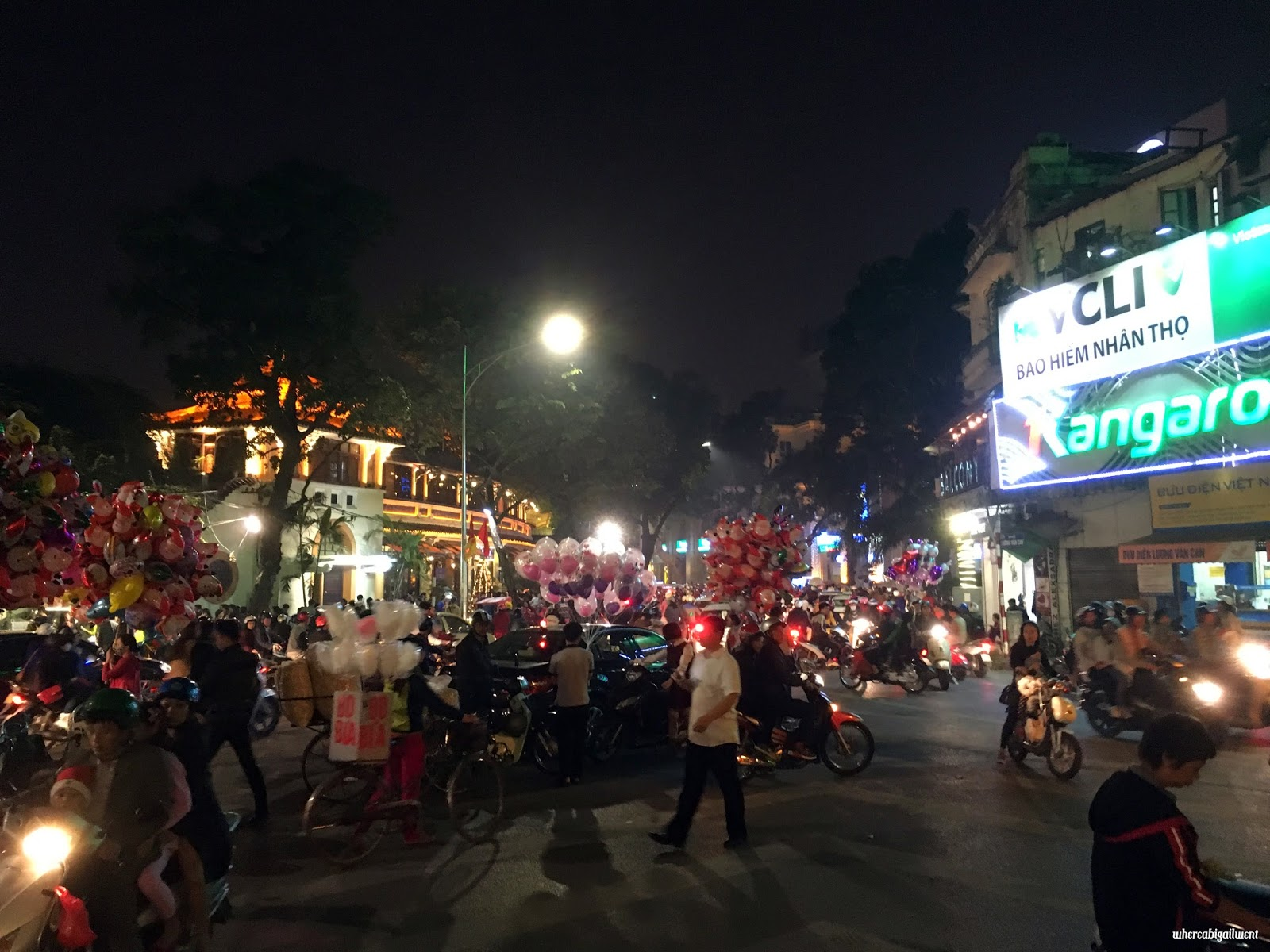 Traffic in the Old Quarter Hanoi