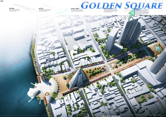 Sắp triển khai xây dựng quảng trường trung tâm cạnh Golden Square