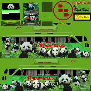 Livery Bussid Restu Panda SHD