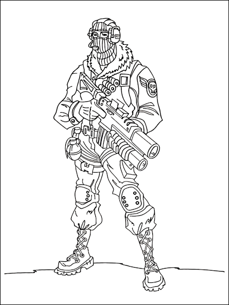 image regarding Fortnite Coloring Pages Printable identify 20+ Fortnite Gingerbread Pores and skin Coloring Internet pages Programs and Programs