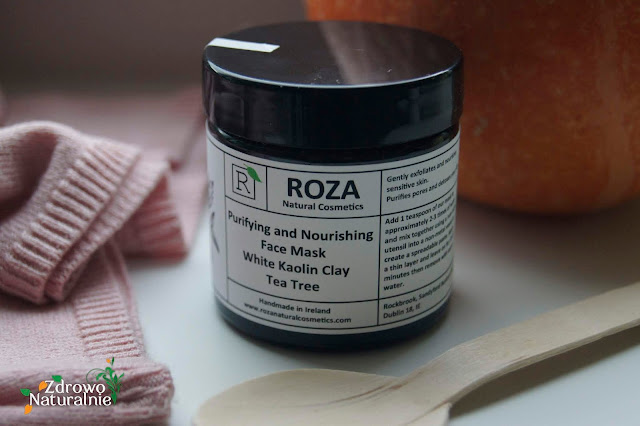ROZA Cosmetics - Oczyszczająca i odżywcza maseczka do twarzy. Biała glinka kaolinowa