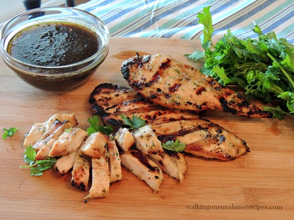 We love this marinade for grilled chicken from Walking on Sunshine.