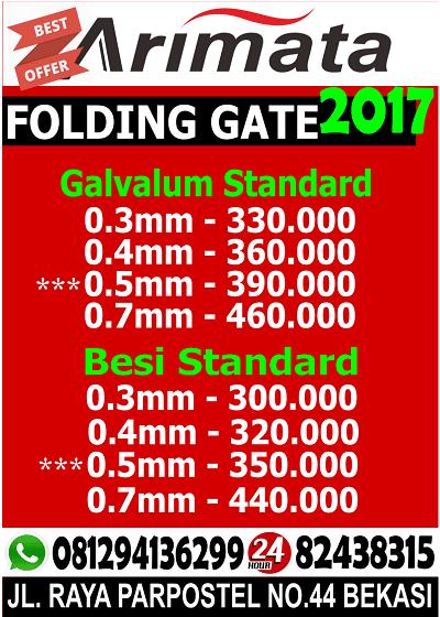 gambar folding gate di cikarang