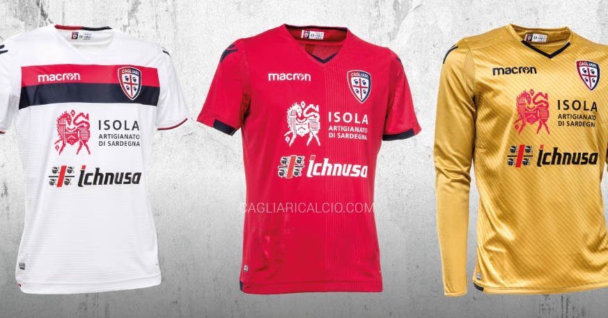 Cagliari Calcio 17-18 Home, Away & Third Kits Released - Footy ...