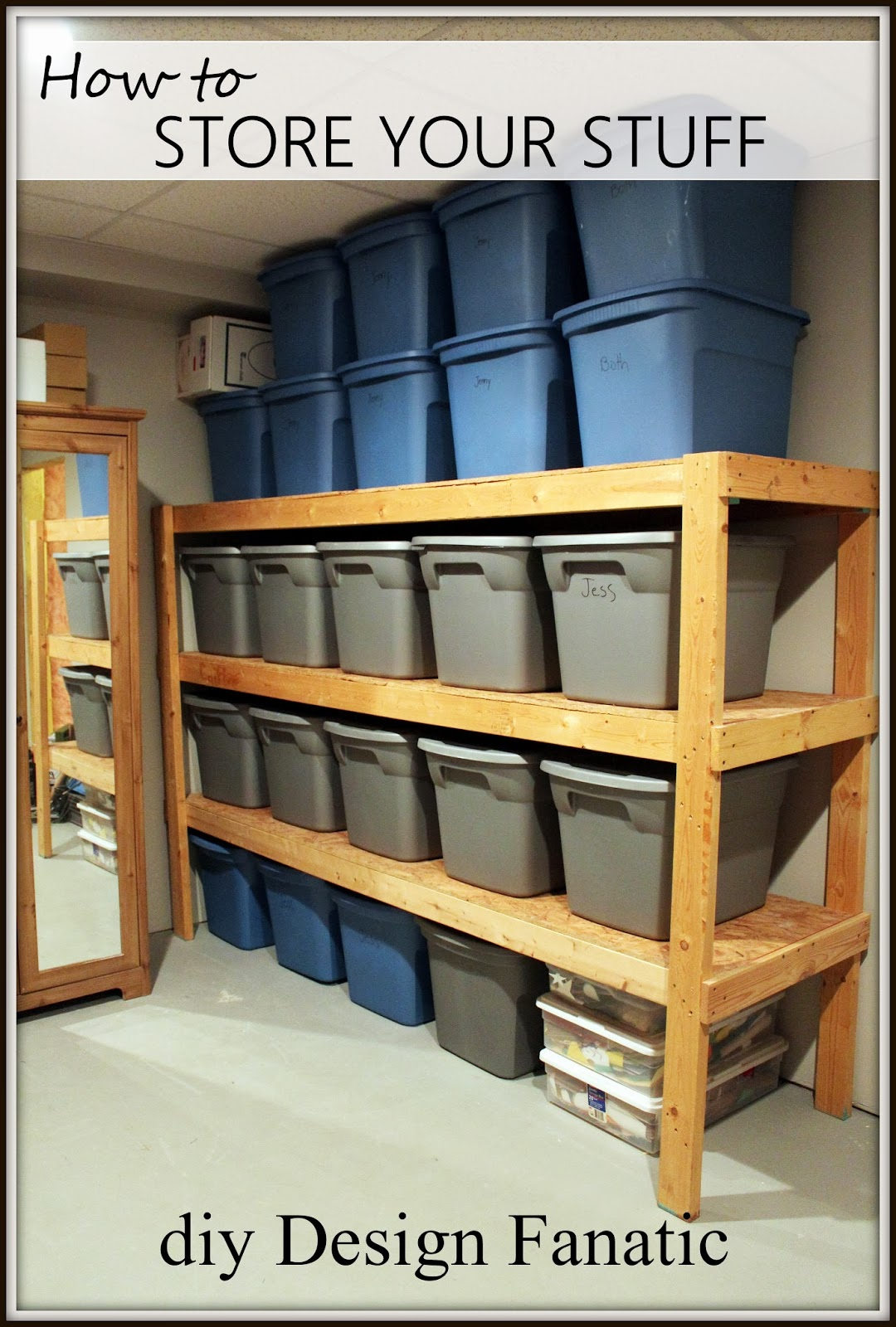 Diy design fanatic diy storage how to store your stuff storage diydesignfanatic storage shelves diy storage shelves basement storage solutioingenieria Images