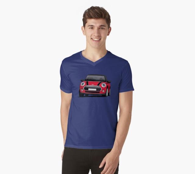 MINI Cooper S illustration t-shirt on Redbubble