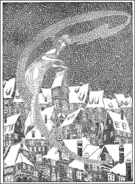 Dugald Stewart Walker book illustration of a snow storm