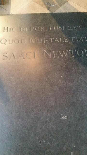 Sir Isaac Newton's grave.