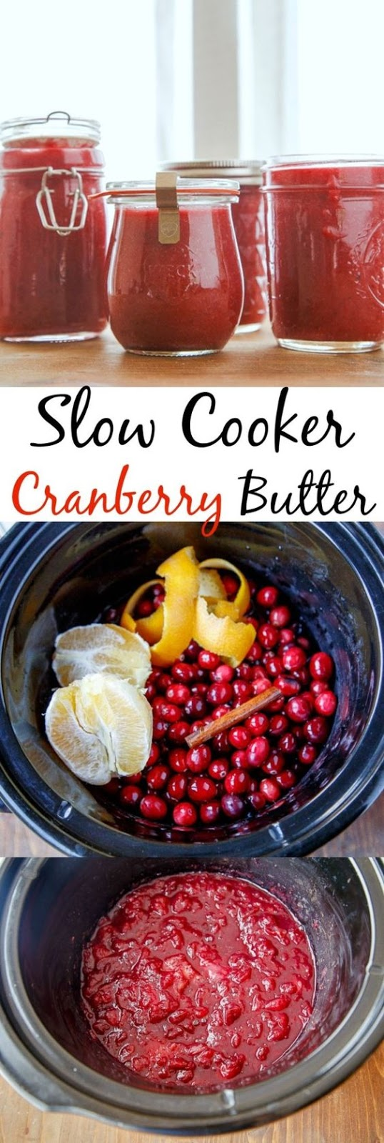 SLOW COOKER CRANBERRY BUTTER