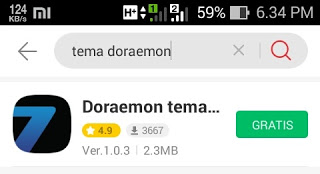 Download aplikasi tema doraemon