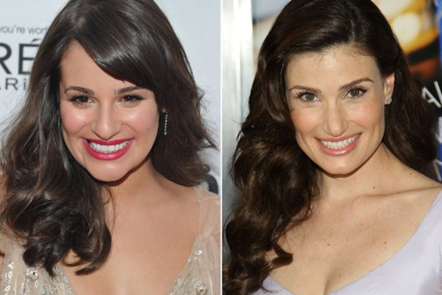 Idina Menzel and Lea Michelle