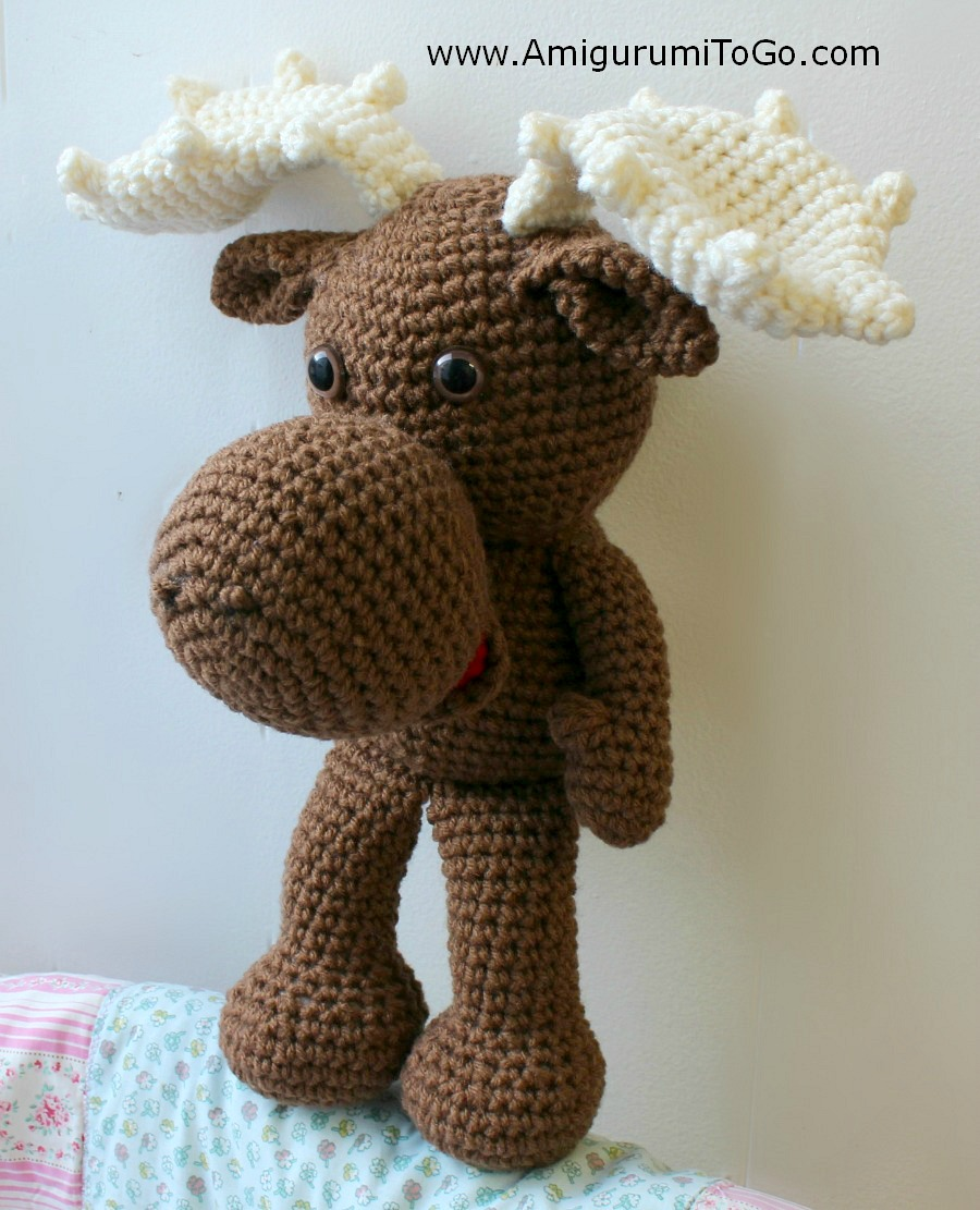 Large Crochet Moose Free Pattern ~ Amigurumi To Go
