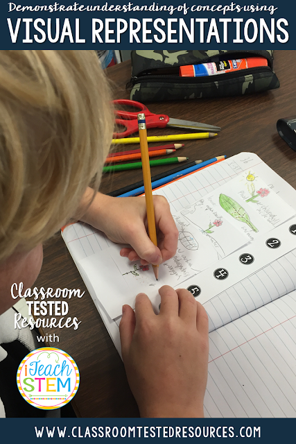 Teachers can help students remember the important steps by having them create scientific drawings. By developing their own visual representations, students are able to demonstrate their understanding of a complex idea.