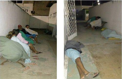 Pacientes dorme ao relento para conseguir consultas