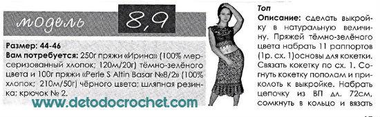 Pollera y Blusa Crochet / Patrones de revista rusa