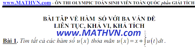On thi olympic toan sinh vien, giai tich