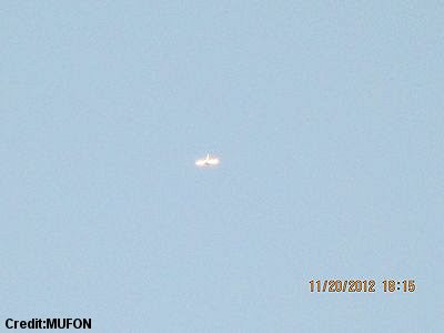 Silent, Glowing Dragonfly-Shaped UFO Photographed Over Asheville, North Carolina (1) (400 px) 11-20-12