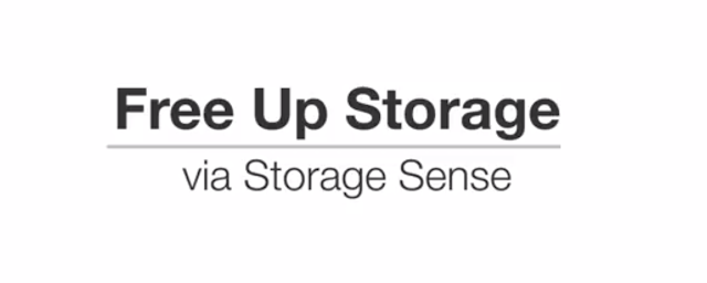 How to Free up Storage via Storage sense in Windows 10