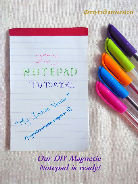 DIY Magnetic Notepad Tutorial - Ready