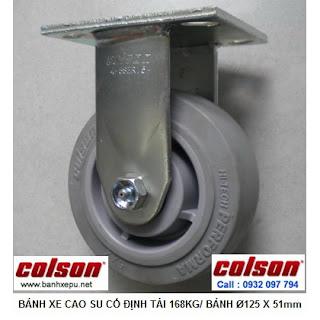 Bánh xe cao su lăn không tạo tiếng ồn Colson phi 125 | 4-5108-459 www.banhxepu.net