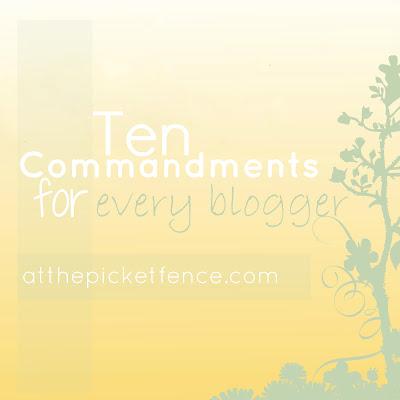 blogging, commandments, how to blog, bloggers, 10 commandments