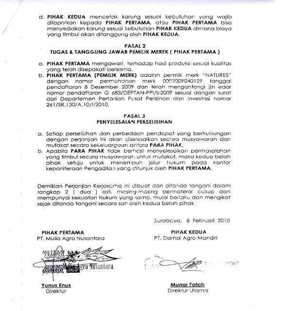 8 Contoh Format Surat Perjanjian Yang Baik Dan Benar