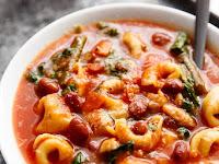 Slow Cooker Tortellini Minestrone Soup Recipe