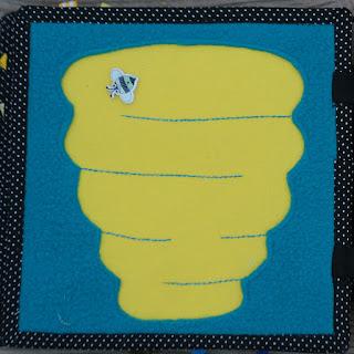 Bee hive maze quiet book page