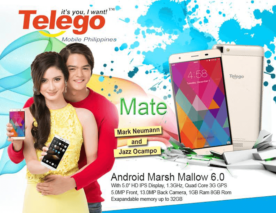 Telego Mate With Metal Frame And Marshmallow OS Now In The Philippines