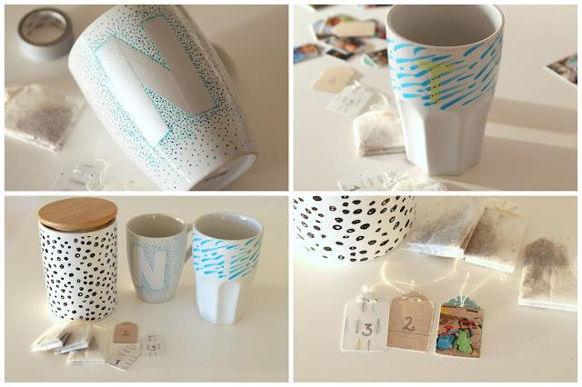 Anleitung DIY Tasse Tee-Adventskalender mit Fotos aus dem Jahr Jules kleines Freudenhaus