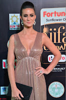 Lerisa Bonisa in a Sleeveless Deep neck Golden Gown ~  Exclusive 054.JPG